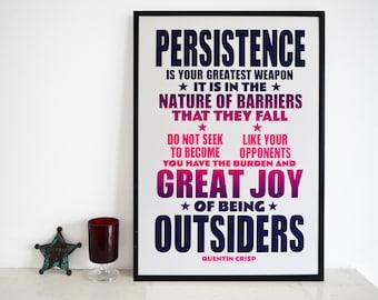 Persistence - Quentin Crisp