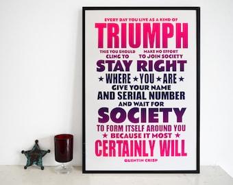 Triumph - Quentin Crisp