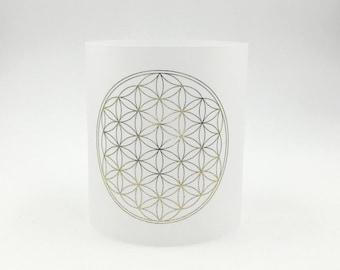 Yoga light flower of life gold meditation gentle light colorful gift windlight paper