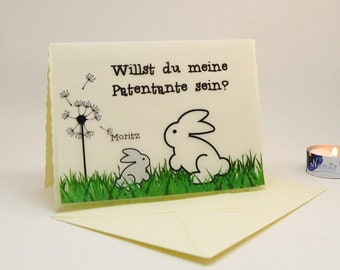 DIY Personalized Card Transparent Paper with Rabbitpatentante Ask Godsome Ask