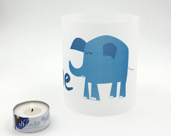 blue elephant personalized light with name transparent paper eco friendly
