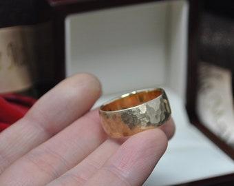 Benutzerdefinierte Dimension Rustikal Matt Gebürstet Gehämmert Hochzeit  Band 14 K Gold 2mm 3mm 3,5 Mm 4mm 4,5 Mm 5mm 5,5 Mm 6mm 7mm 8mm Gravierbar  Ringe