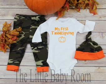 2e097a6d5a80 My First Thanksgiving Baby Clothes