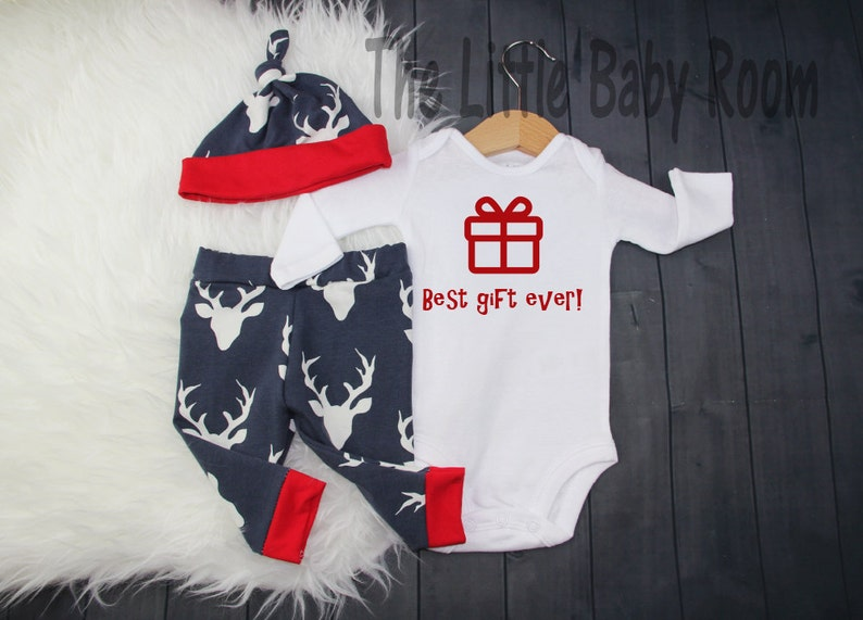 161292a0e71a Baby Boy Girl Christmas Outfit SetBest Gift