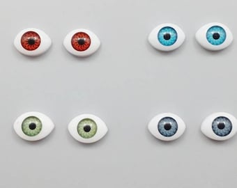 a52473d0c1c Eyeballs Kitsch Assorted Colors Plastic Resin Flatbacks Scrapbooking  HairBows Parties DIY Projects EE092018