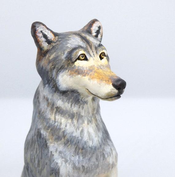 totem animal Grand Teton wildlife whimsical sculpture southwest decor Yellowstone Native American Indian spirit wolf ornament