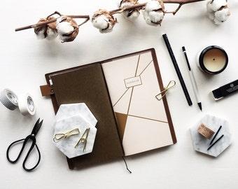 Gold Foiled Traveler's Notebook Refills / Midori Inserts Fauxdori Inserts