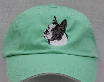 5400eb2a6ef Boston Terrier Embroidered cap