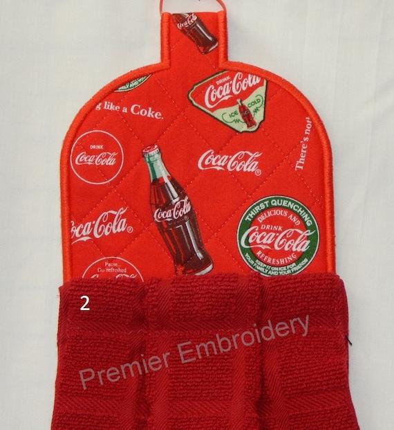 Elegant Coca Cola Kitchen Towel Toppers   Etsy