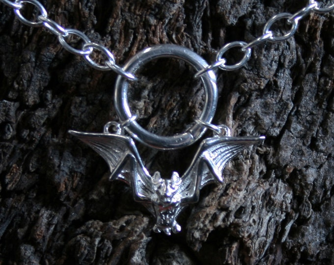 Eternally Loved Sterling silver BDSM eternity  infinity ring bracelet. Discrete PERMANENTLY LOCKING Heart shaped O ring Slave Bracelet