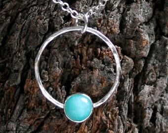 Discrete day collar ~ O ring, Story of O,  Gemstone & Sterling Silver day collar. Choose gemstone.