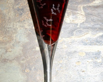 Bat Flight - My exclusive 'Bat Flight' design is now available on a Conical Wine Glass