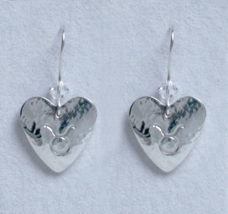 Handmade 'Birthday' earrings. April Diamond image 0