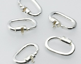 PERMANENTLY LOCKING Sterling silver BDSM replacement / spare link lock for my Day collars & bracelets. Submissive / slave collar lock