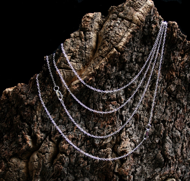 Fine Sterling Silver neck chain. Silver necklace. Choose image 0