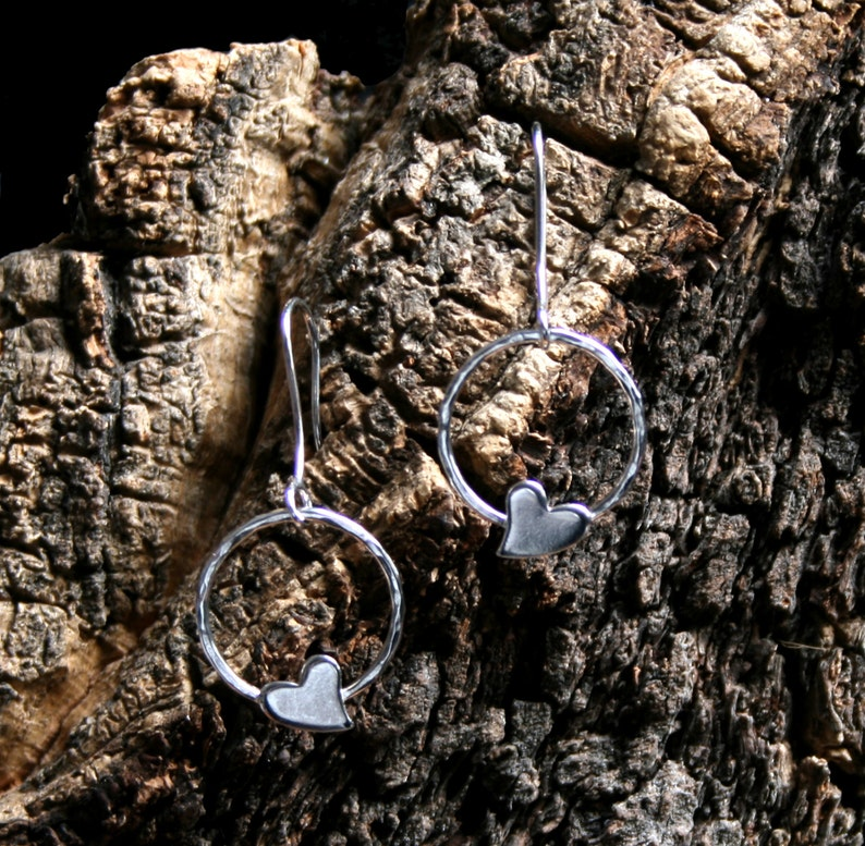 Wild Heart. Sterling Silver dangle earrings. Mothers day / image 0