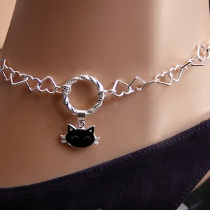 BDSM Anklet Fancy O ring Sparkly Baby girl bow Heart links. CZ Bow Slave Ankle Chain Bracelet Sterling silver Zircon bow DDlg bow