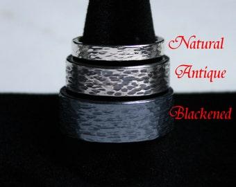 Pair of His 'n' Hers / Hers 'n' Hers / His 'n' His 'Eternal' design Heavyweight Sterling Silver Fully UK hallmarked Wedding rings. 8mm & 8mm