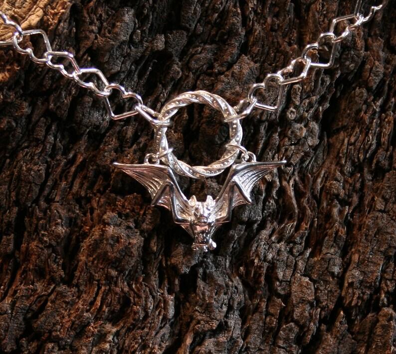 Gothic Bat  Discrete PERMANENTLY LOCKING Fancy O ring Day image 0