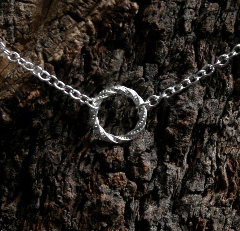 Discrete PERMANENTLY LOCKING Fancy 'O' ring Day Collar image 0