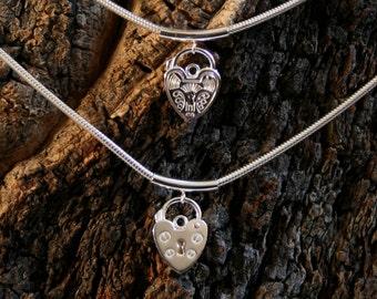 Discrete PERMANENTLY LOCKING Slave Bracelet. Plain or fancy padlock BDSM bracelet. Sterling silver. Choose plain or fancy engraved padlock