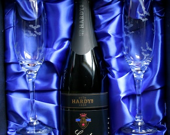 Simply Batty - Original design, acid etched, Bat design, Champagne glasses. As is, or personalized.