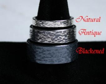 Pair of His 'n' Hers / Hers 'n' Hers / His 'n' His 'Eternal' design Heavyweight Sterling Silver Fully UK hallmarked Wedding rings. 8mm & 3mm