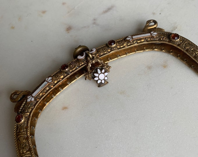 Antique jewelled purse purse