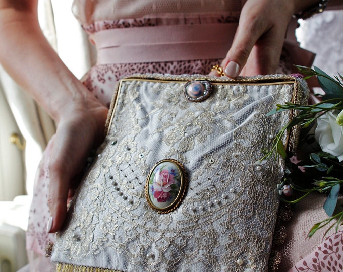Antique Style Beaded Evening Bag