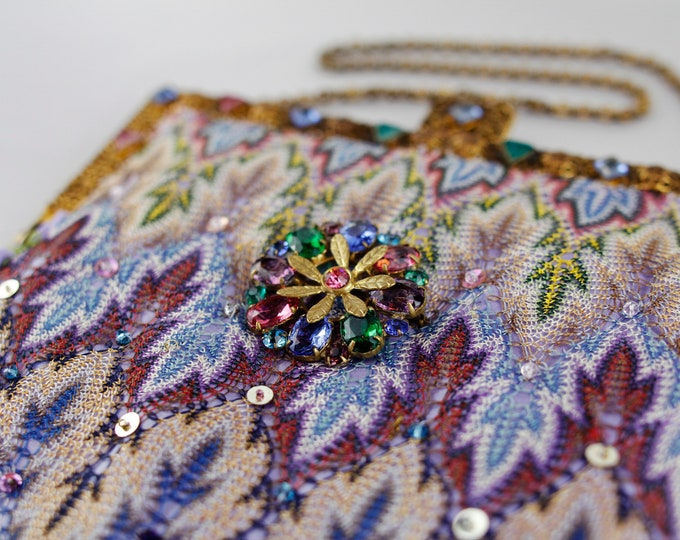 Oriental Silk Shawl Vintage Style Bag