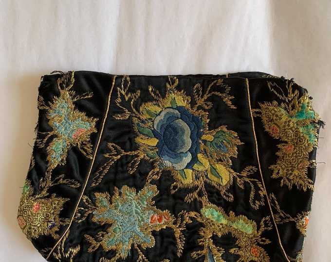 Antique oriental silk embroidery