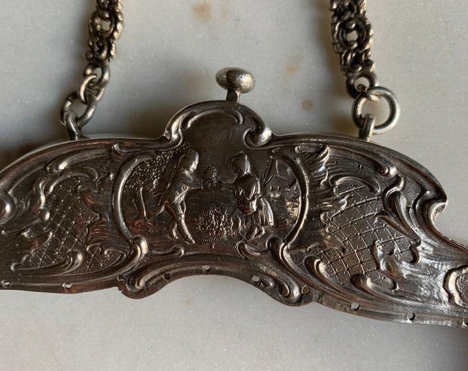 Antique silver 800 purse frame