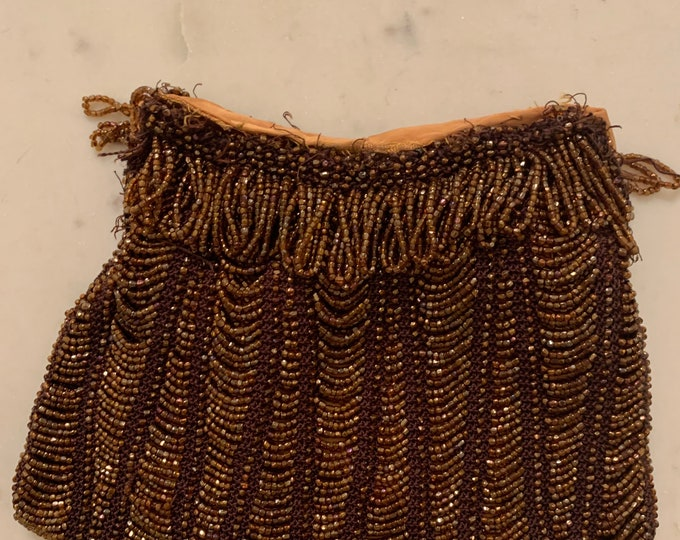 Antique beaded purse no frame for repair only