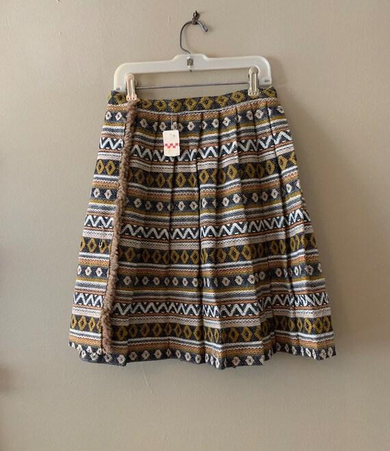 Vintage Pleated Mini Skirt 1960's