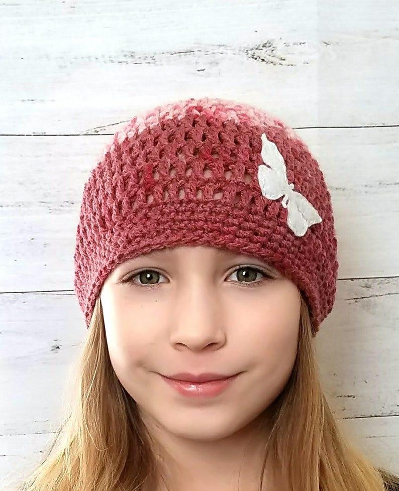 Hats for Girls|Beanie Hat|Crochet Hat|Child Beanie Girl|Valentine Beanie Hat|Valentine Hats Child|Butterfly Hat|Butterfly Hat Child|Beanie