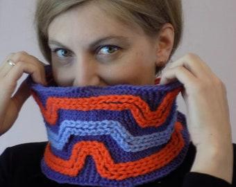 Snood tricoté, col tricoté, cache cou tricoté, chauffe cou tricoté, snood tricot, écharpe tricotée, cache nez tricoté, accessoire tricot
