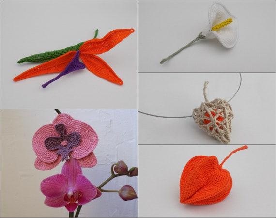 5 Tutoriels Fleurs Au Crochet Strelitzia Orchidee Calla Etsy