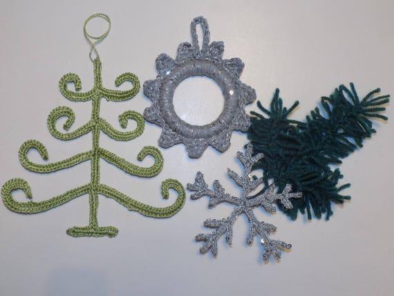 Crochet Christmas Ornaments Pattern Crochet Christmas Tree Etsy