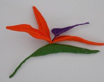 Tutoriel de fabrication: Strélitzia (bec de perroquet) crocheté, fleurs exotiques au crochet, crochet artistique, belles fleurs au crochet