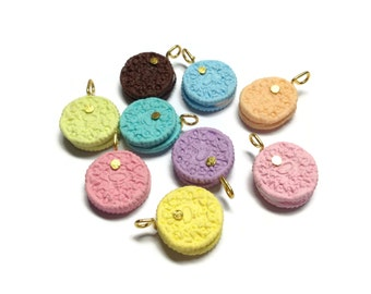 Charm Sweet - Biscuit Round Mix Color 20pcs - 15mm For Deco Charms jewelry - LOT64