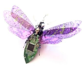 The Death's Head Hawk Moth, Circuit Board Insect by Julie Alice Chappell