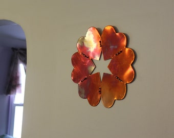 SOLD OUT!!!  SMALL Copper Heart Wreath