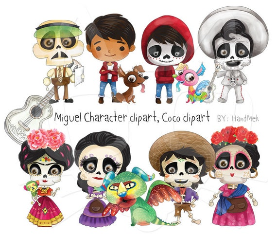 Miguel Character Clipart Instant Downloadpng File 300 Dpi Etsy