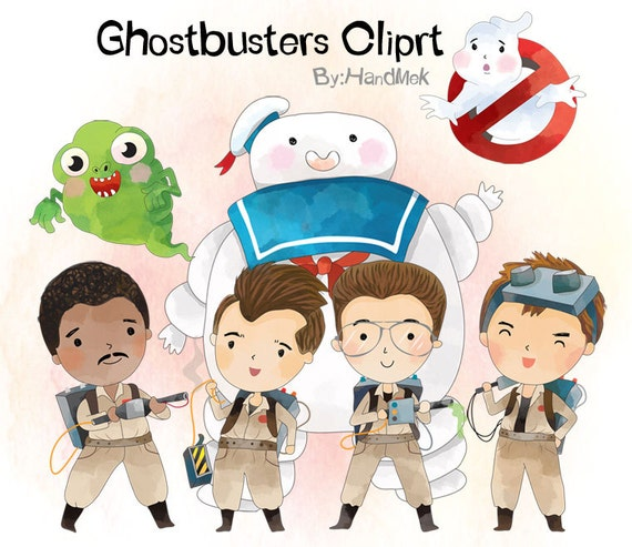 Ghostbusters 1 Character Clipart Png File 300 Dpi Etsy