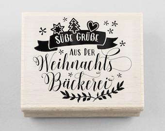 Adressenstempel « Baguette » Mit Kissen Firmenstempel Bäcker Imbiss Kiosk