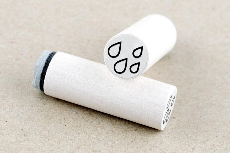 Mini Rubber Stamp Drops \u00d8 1,1 cm