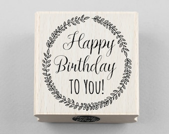 Rubber Stamp Happy Birthday To You 5,5 x 6 cm