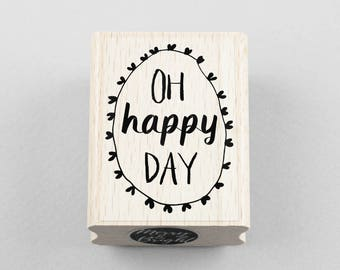 Rubber Stamp Oh Happy Day 3,5 x 5 cm