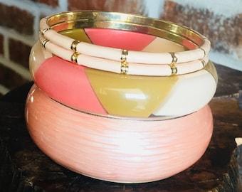 Bangles, Bangle Bracelets, Peach Bangles