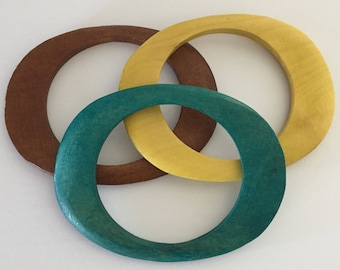 Wood Bangles, Flat Bangles, Colorful Bangles